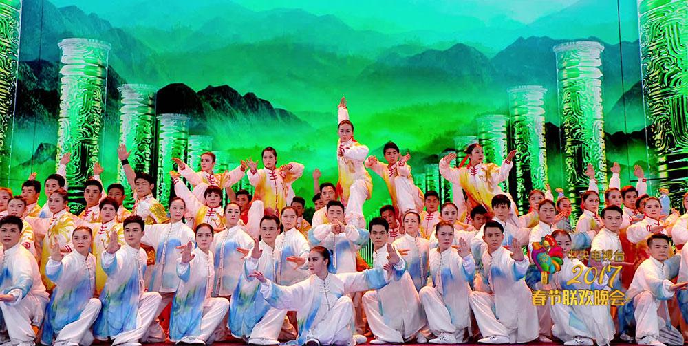 国家武术队登上春晚展中国骄傲
